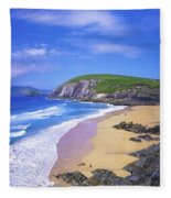 Coumeenoole Beach, Dingle Peninsula, Co Fleece Blanket