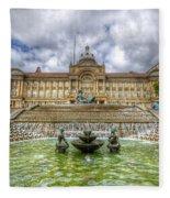 Council House And Victoria Square - Birmingham Fleece Blanket
