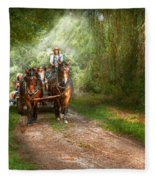 Country - Horse - The Hay Ride  Fleece Blanket