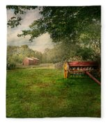 Country - The Crops Almost Ready  Fleece Blanket