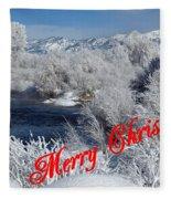 Country Christmas 2 Fleece Blanket