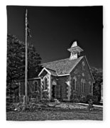 Country Church Monochrome Fleece Blanket