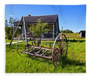 Country Classic Paint Filter Fleece Blanket