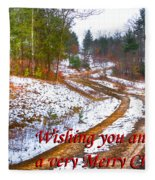 Country Lane Holiday Card Fleece Blanket