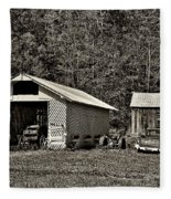 Country Life Sepia Fleece Blanket