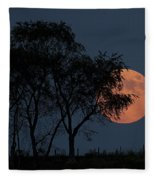 Country Moon  Fleece Blanket