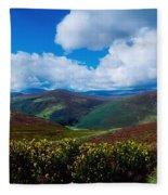 Country Road, Near Luggala Mountain, Co Fleece Blanket