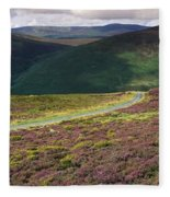 Country Road Passing Through A Fleece Blanket