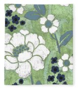 Country Spa Floral 2 Fleece Blanket