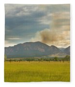Country View Of The Flagstaff Fire Fleece Blanket