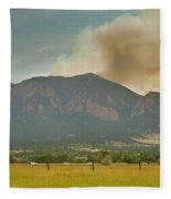 Country View Of The Flagstaff Fire Panorama Fleece Blanket