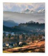 Countryside. Slovenia Fleece Blanket