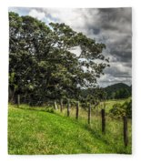 Countryside With Old Fig Tree Fleece Blanket