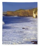 County Antrim, Ireland Seascape With Fleece Blanket