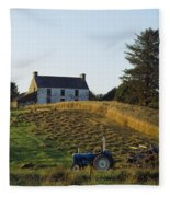County Cork, Ireland Farmer On Tractor Fleece Blanket