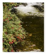 County Kerry, Ireland Fuchsia Bush Fleece Blanket
