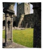 County Kilkenny, Ireland Jerpoint Abbey Fleece Blanket