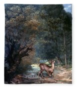 Courbet: Hunted Deer, 1866 Fleece Blanket