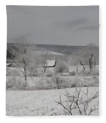 Courrier And Ives Winter Fleece Blanket