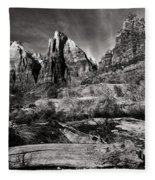Court Of The Patriarchs - Bw Fleece Blanket