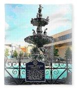 Court Square Fountain Fleece Blanket