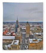Court St Snow Fleece Blanket
