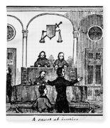 Courtroom, 1842 Fleece Blanket