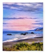 Cove On The Lost Coast Fleece Blanket