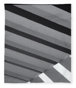 Covered B/w Fleece Blanket