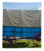 Covered Wagon Fleece Blanket
