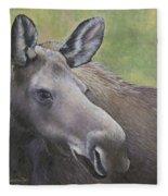 Cow Moose Fleece Blanket