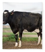 Cow With Johnes Disease Fleece Blanket