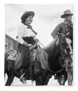 Cowboy And Cowgirl, C1908 Fleece Blanket