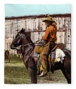 Cowboy, C1900 Fleece Blanket