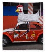 Cowboy Chicken Fleece Blanket