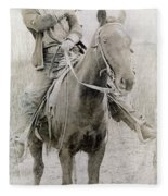 Cowboy Robber, C1900 Fleece Blanket
