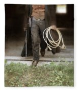 Cowboy With Guns And Rope Fleece Blanket