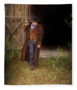 Cowboy With Guns Fleece Blanket