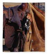 Cowboys Saddle And Chaps Detail Fleece Blanket