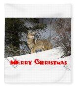 Coyote Christmas Fleece Blanket