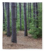 Cozy Conifer Forest Fleece Blanket