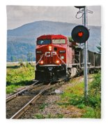 Cp Coal Train And Signal Fleece Blanket