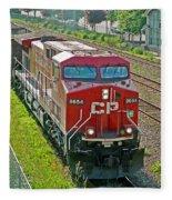 Cp Rail Engine Fleece Blanket