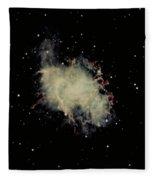 Crab Nebula Fleece Blanket