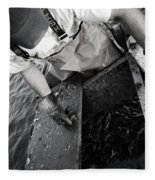 Crabbing On The Potomac Fleece Blanket