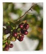 Crape Myrtle Fruit Fleece Blanket
