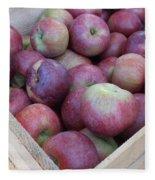 Crate Of Apples Fleece Blanket