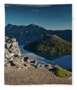 Crater Lake Afternoon Fleece Blanket