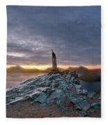 Crater Lake Autumn Dawn Fleece Blanket
