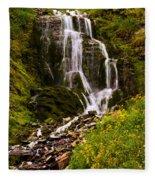 Crater Lake Falls Fleece Blanket